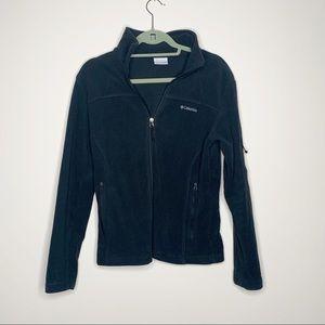 Columbia Black Zip Up Fleece  Fuzzy Jacket Medium